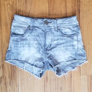 AMERICAN EAGLE GREAT COND HI WAIST JEAN SHORTS